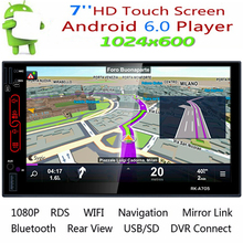 7 Android 6.0 2 Din DVD Car Multimedia Player Bluetooth Auto Radio Media MP5 Player Built-in Wifi GPS Navigation Support Camera 7 inch hd car mp5 radio video player for android 7 1 multimidia 4k touch screen 1080p bluetooth auto gps navigation support wifi