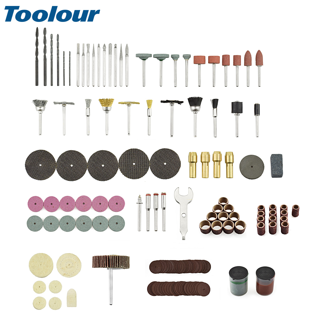 Toolour 147pcs/lot Abrasive Accessories Rotary Power Tool Bit Set Suit Dremel 1/8