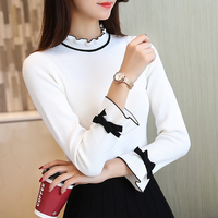 5344 New Women S Knitted Lace Collar All Match Bottoming Shirt 302 Floor 1 Ranked No
