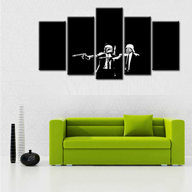 Wholesale 5 Pieces/set Movie Poster Series Canvas Painting for living room Decoration Print Canvas Pictures