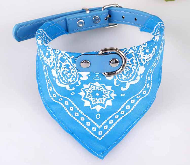 Cute Small Dog Collars Puppy Pet Slobber Towel Puppy Dogs Cats Scarf Adjustable Designer Dog Collar Black Pink Red Blue Purple Wholesale3