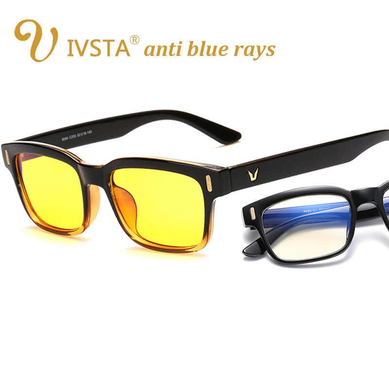 985884ed7d IVSTA Juegos de ordenador gafas mujeres Anti deslumbramiento Anti azul  radiación de rayos UV400 amarillo lentes