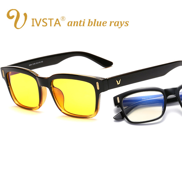 44d236080f0a IVSTA Computer Gaming Glasses Eyeglasses Women Anti Glare Anti Blue Ray  radiation UV400 yellow lenses frame