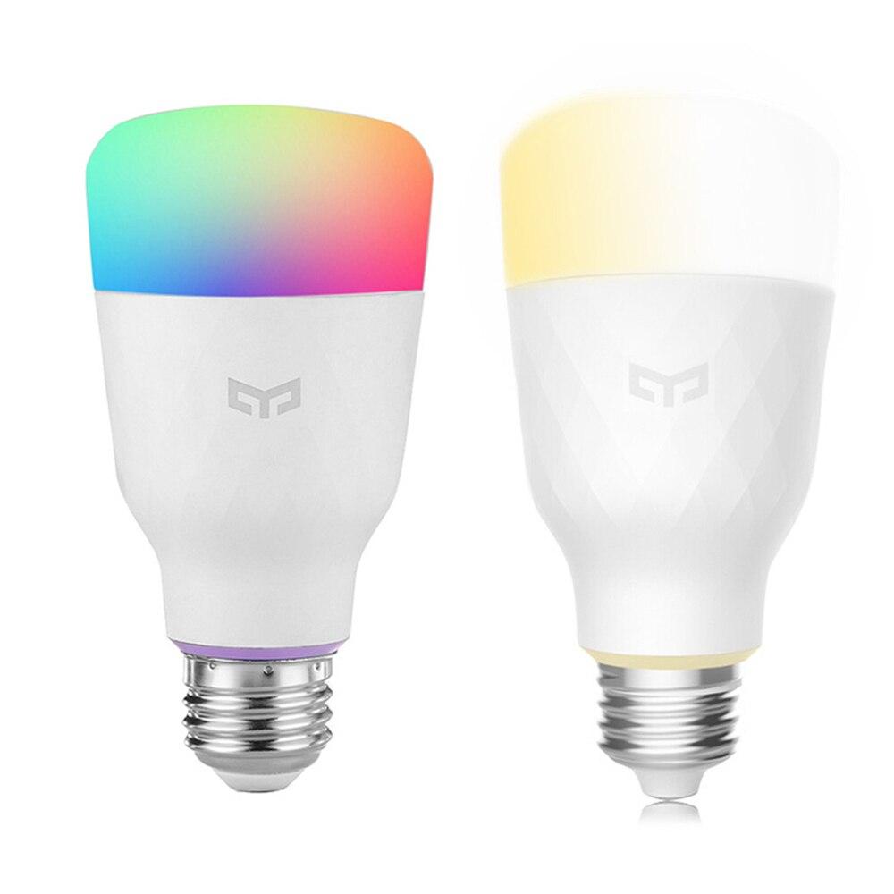 2PCS Xiaomi Yeelight E27 Wireless WiFi Control Bulbs With Smart Light Bulb Double-Color Temperature Bulb + RGB Smart Bulb xiaomi yeelight led light bulb ipl