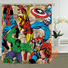 art painting Marvel Shower Curtain Personalized Custom Bath curtain Waterproof polyester curtain for family(China)