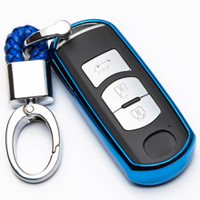 Soft TPU Remote Key Case Cover Shell  protect For Mazda 2 mazda 3 5 6 CX-3 CX-4 CX-5 CX-7 CX-9 Atenza Axela MX5