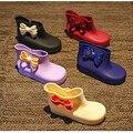 Niños botas de lluvia de los niños botas niños niñas zapatos Arco niños Botas Chanclos de goma botas de Lluvia Zapatos Impermeables Del Envío libre