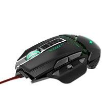 ZERODATE USB bedrade muis Ergonomie 3200 DPI verstelbare Mechanische Muis Kever Creatieve 3D Gaming Muizen RGB Cool Backlight Night