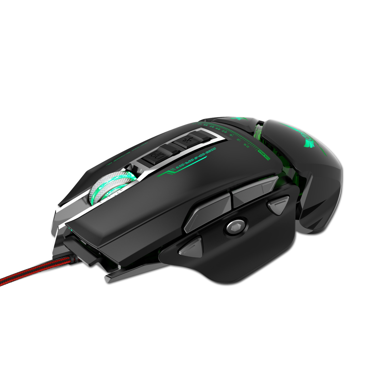 ZERODATE USB souris filaire ergonomie 3200 DPI réglable mécanique souris Beetle créative 3D souris de jeu RGB Cool rétro-éclairage nuit