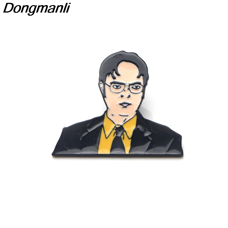 P3260 Dongmanli The office TV show Dwight Schrute Enamel Pins and Brooches  for Women Men Lapel Pin backpack bags badge Gifts