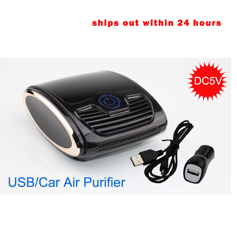 Plasma car air purifier portable Oxygen concentrator DC5V,ionizer density 3 million,USB Fresh Freshener HEPA air cleaner pm2.5 car air purifier oxygen bar ionizer cleaner aromatheraph eliminate odor and dust for fresh air
