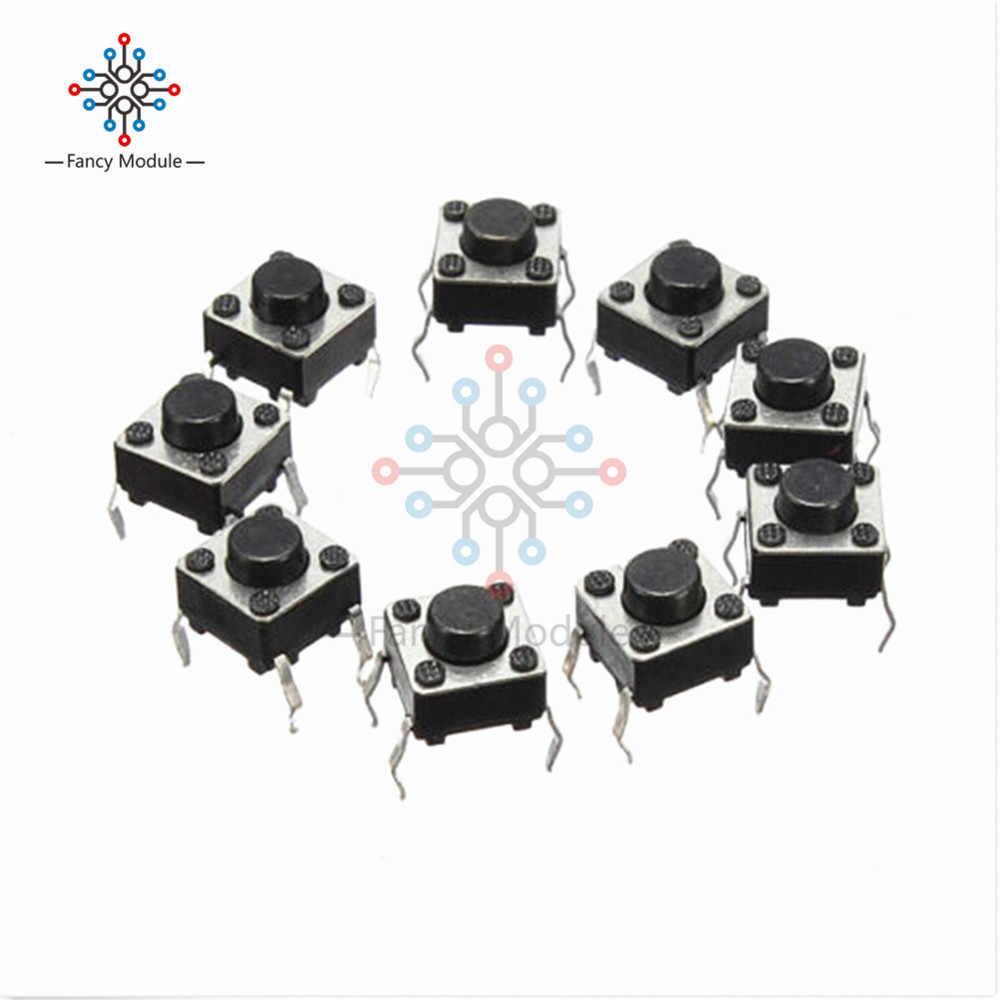 20 pièces Tactile bouton poussoir interrupteur Tactile interrupteur 6X6X4.3mm 4 broches DIP