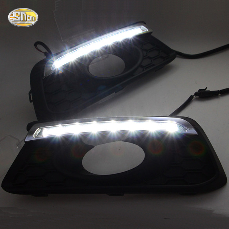 SNCN светодиодными фарами дневного света для Honda mobilio DRL туман Лампа управляя света