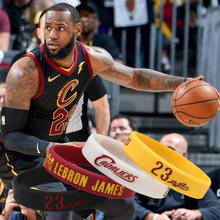 f273432b0b4b 4pcs lot LeBron James Basketball Silicone Bracelet Baskteball Superstar LBJ Silicone  Wristband Sport Bracelet(
