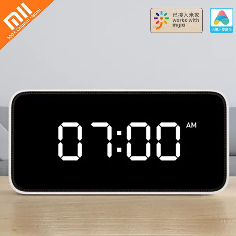 Original Xiaomi Xiaoai Smart Alarm Clock Voice Control Intelligent Device Voice Reminder Automatic light Sensor For Mi home App image