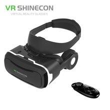 VR SHINECON 4.0หมวกกันน็อคแว่นตา3Dที่มีการดูดซับระบายความร้อนแผงจริงเสมือนVRแว่นตา+ไร้สายบลูทูธควบคุมระยะไกล