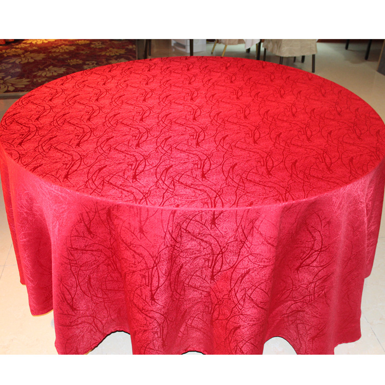 High-grade anti-static hotel restaurant antependium, high-quality festive wedding round table cloth, table cloth wholesale ...