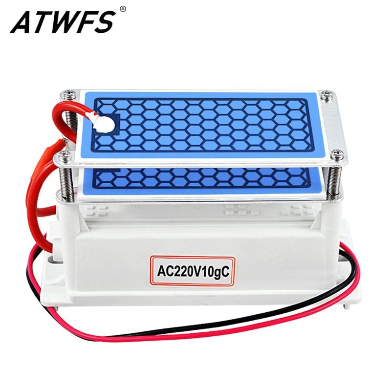 ATWFS Ozone Generator 220v 10g Home Air Purifier Ozonizador Ozonator Air Cleaner Mini Ozon Generator Ozonizer Sterilization Odor(China)