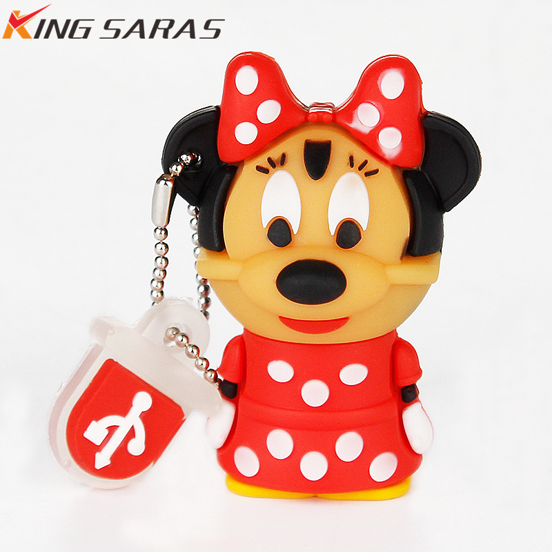 Rato mickey e minnie usb pen drive 32gb usb 2.0 128gb 8gb 4gb pendrive 64gb pen drive 16gb cartoon presente usb vara navio livre