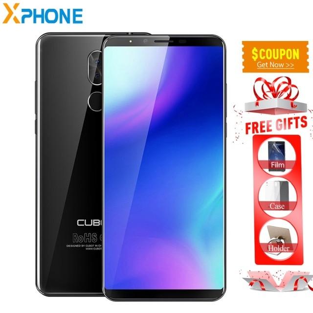 Cubot X18 плюс Android 8,0 18:9 FHD 4 Гб 64 5,99 ''h MT6750T восьмиядерный смартфон 16MP сзади камеры 4000 мАч г LTE Celular