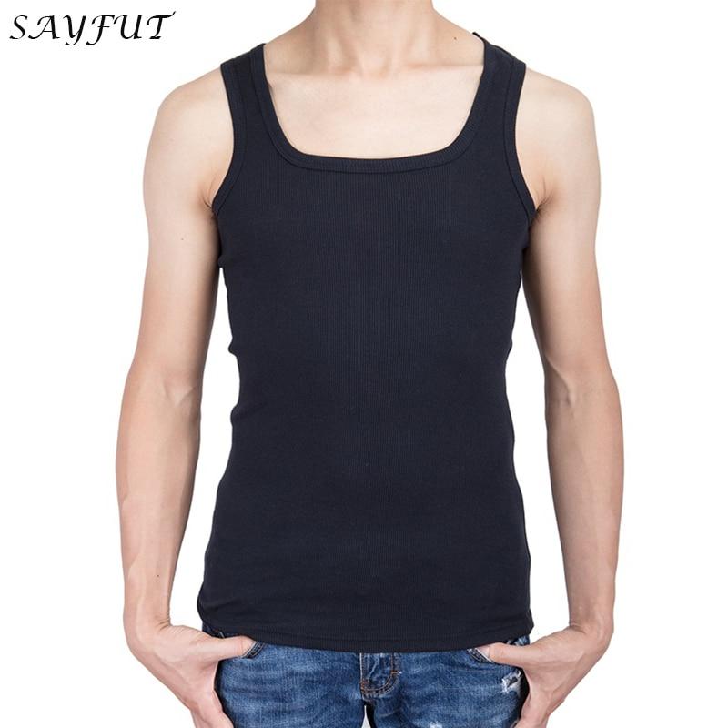 2018 Cotton Big Size Summer men clothing   Tank     Tops   Black White Gray Singlets Sleeveless fitness men vest Bodybuilding   Top