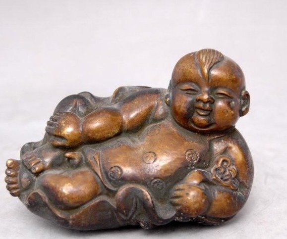 Rare Old 18C copper Statue/ Sculpture---Fuwa,best collection&adornment,free shippingRare Old 18C copper Statue/ Sculpture---Fuwa,best collection&adornment,free shipping