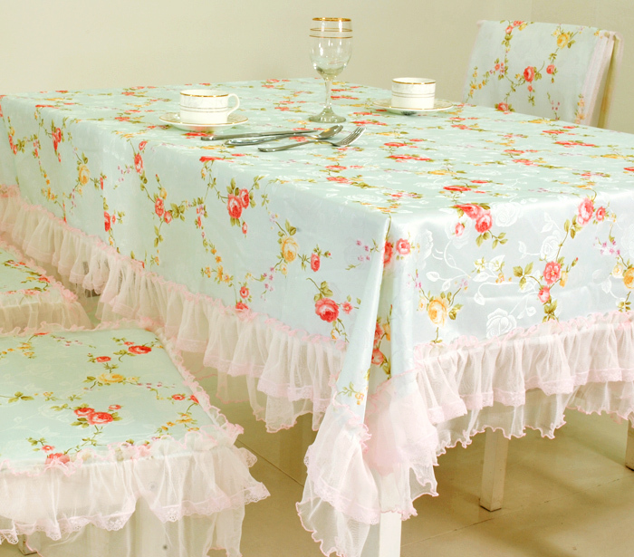 Flower water rustic cloth dining table cloth towel cover table mat tablecloth table cloth