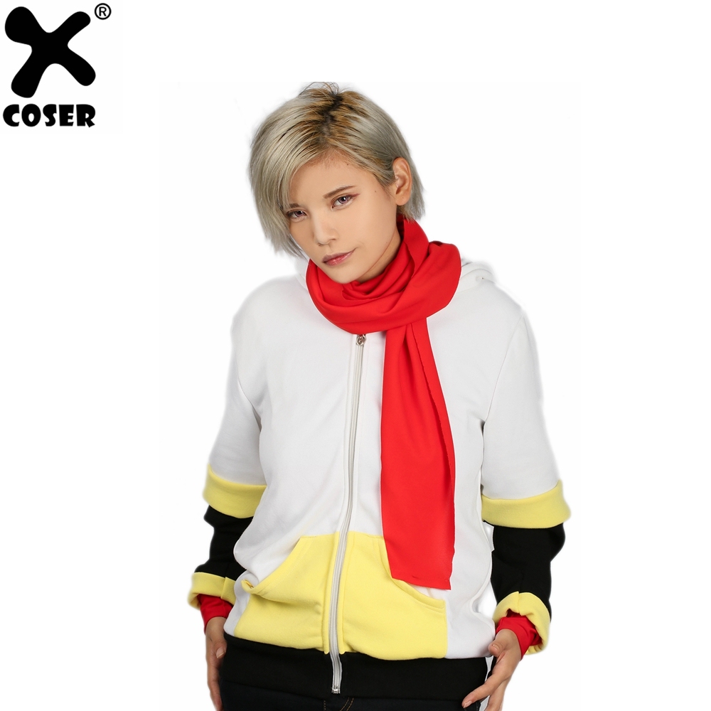 XCOSER Undertale Papyrus Hoodie White Zipper Hoodie Papyrus Cosplay High Quality Costume For Teenagers Christmas Party Gift