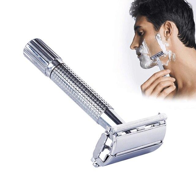 Segurança Double Edge Navalha Para Homens Barber Lâmina Reta dos homens Rosto Barbear Lâminas de Barbear Máquina de Barbear