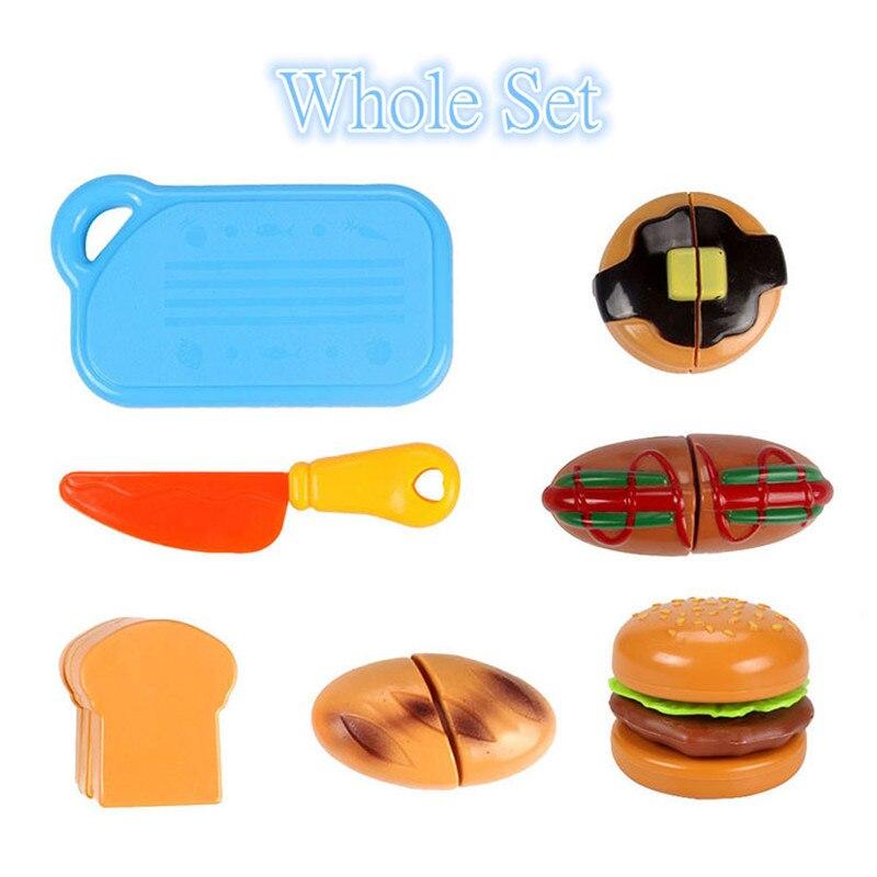 DIY Children's Kitchen Toys Kids Play House Plastic Toy Hamburg Bread Cakes&Hotdog Cake Food Toys set Early Education Kids Gifts (2)