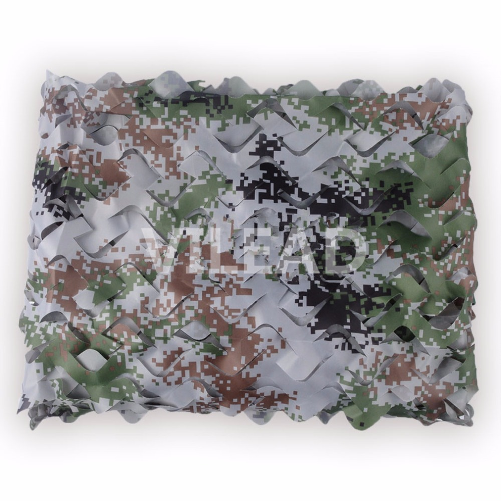 VILEAD 9 Colors 1.5x10M Protective Camouflage Netting Camo Net for Military Shelter Beach Tent Garden Tent Camping Shelter-in Sun Shelter from Sports & Entertainment    3