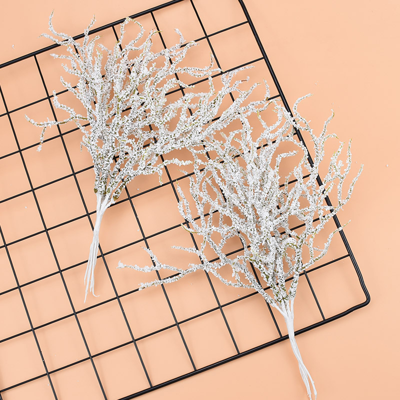 6pcs/bundle Artificial Plants Fake Flowers For Scrapbooking Diy Brooch Gift Christmas Wreath Wedding Home Decor PE Flower Branch