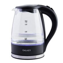 Чайник электрический Galaxy GL 0552 (Мощность 2200 Вт, объем 1.7 л, стеклянный корпус, подсветка)