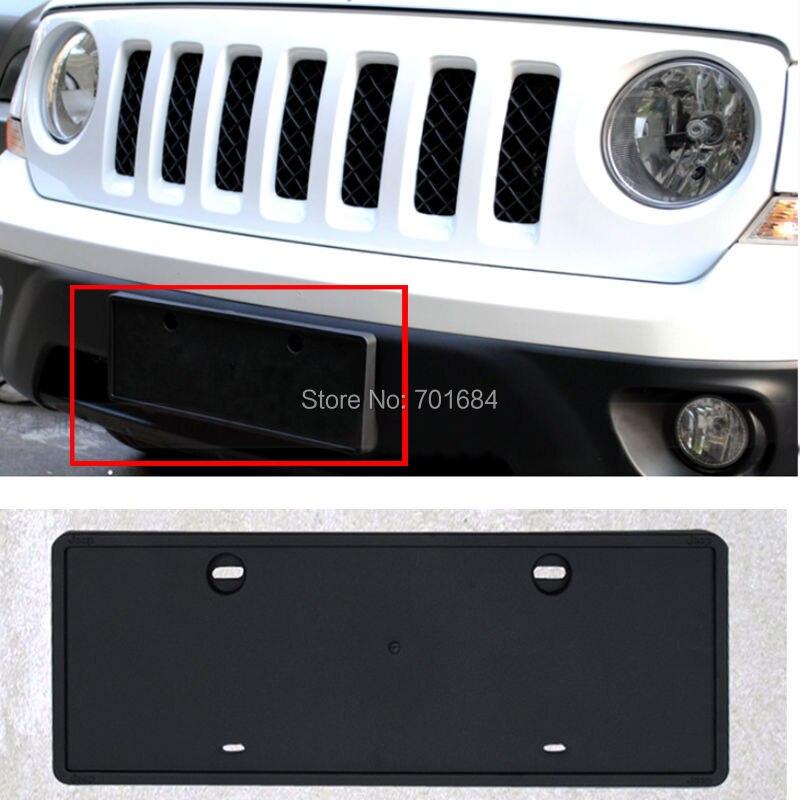 Front License Plate Holder Bracket Black Mount For Jeep Patriot 2011 2012 2013 2014 2015 2016 [QP1039]