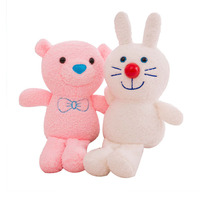 Plush Toy Doll Animal Stuffed Pig Bear Rabbit Elephant Soft Doll Appease Sleeping Pillow Kids Room Decor Toy 50G0682