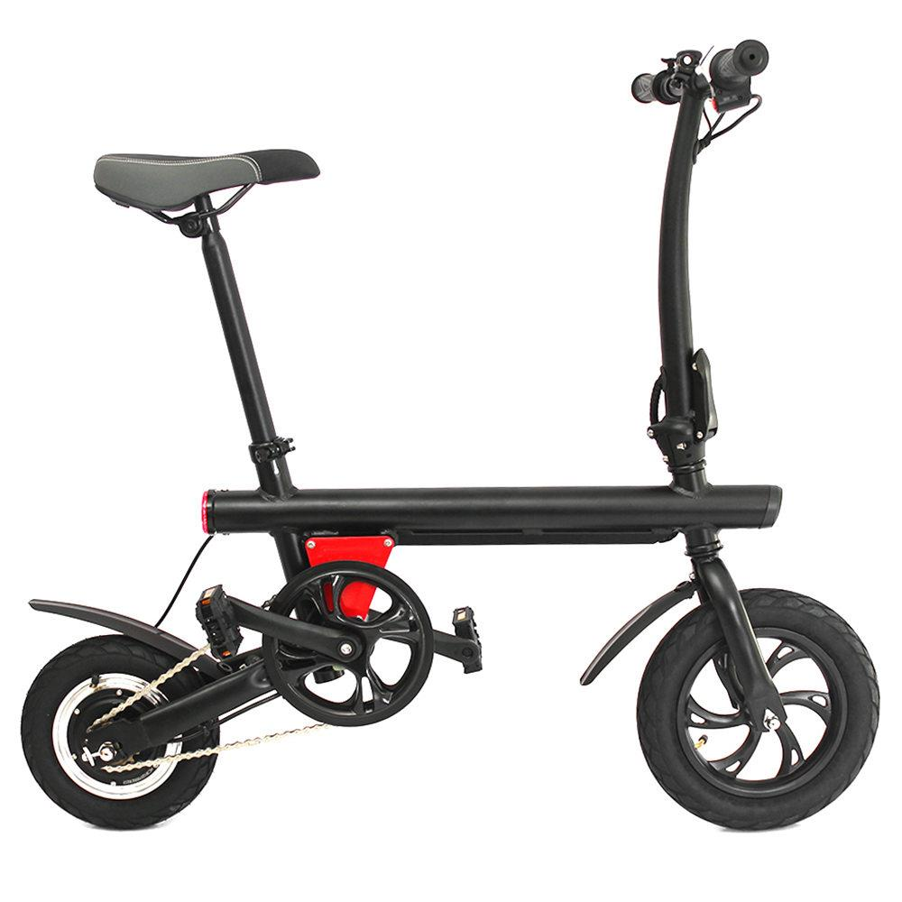Free tax 12 inch tire E-Bike Y1 <font><b>5Ah</b></font> <font><b>36V</b></font> Smart Folding Bicycle Electric Bike 250W max load 110kg for adults accessories light image