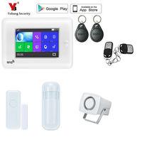 Yobang безопасности приложение управление Wi Fi 3g дома охранной сигнализации Systerm наборы для ухода за кожей проводной сирена pir сенсор русско