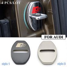 Car-styling Stainless Steel car covers Door lock cover case for AUDI A3 A4 A5 A6 B8 C5 B6 B5 B7 Q7 Q5 Q3 accessories car styling