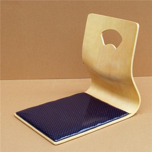 Фото (2pcs/lot) Japanese Floor Chair Design Fan-shape Tatami Zasiu Legless Chair Natural Color Meditation Backrest  Ergonomic Chair