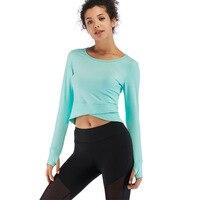 2019 Fitness Women Clothing Yoga Sport Top Long Sleeve Top Dance Ballet Women Shirts Solid Yoga Workout Top Gym Shirts Sportwear
