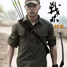 Män Tactical Gear Snabbt Torka Militär Skjortor Andas Mjuk Elastisk Ny Tyg Långärmad Combat Army Skjorta Quickdry andas