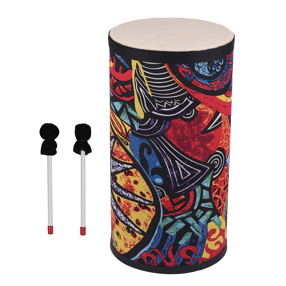8 Inch Conga Konga Drum Hand Drum Fabric Art Surface Floor Drum Attractive with Shoulder Strap for Gathering Street Performance
