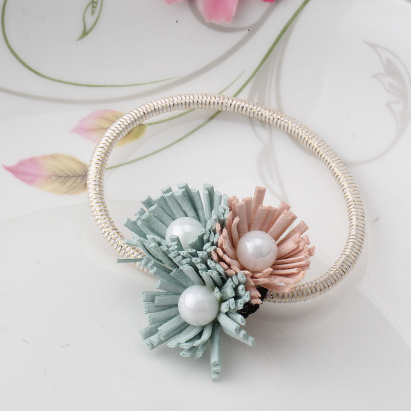 Women Summer Style Hair Accessories Handmade 3 Pearls Elastic Hair     Women Summer Style Hair Accessories Handmade 3 Pearls Elastic Hair Bands  Gum For Hair Acessories Para Cabelo Tassel Scrunchy in Hair Accessories  from Mother