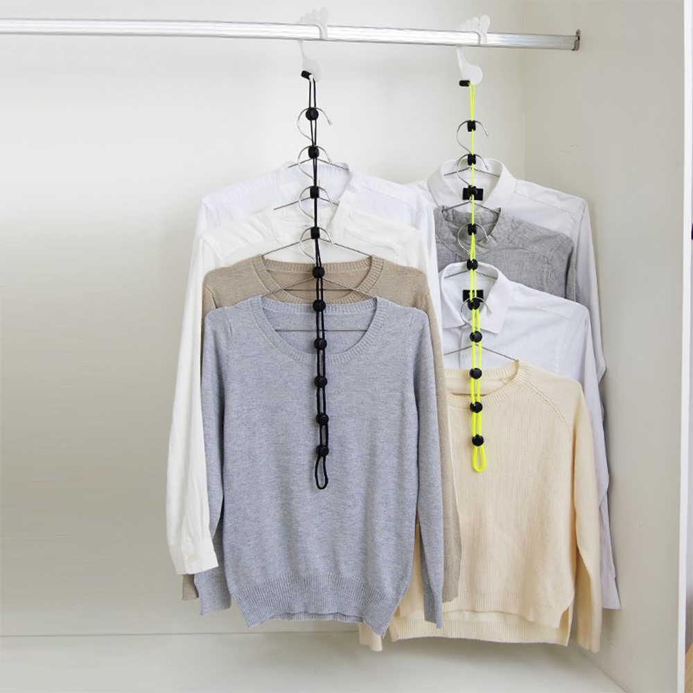 1 PC Clothesline Appeso Linea Per L'essiccazione Calzini e Calzettoni Holder Multifunzione Per Uso Domestico Gancio Regolabile Vestiti Calzini e Calzettoni Dell'organizzatore di Immagazzinaggio