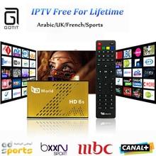 Vie Livraison IPTV HDWorld F6 DVB-S2 Récepteur Satellite Europe Arabe IPTV 1000 PayTV Canal Livraison Éternellement KO Grande Abeille TV boîte