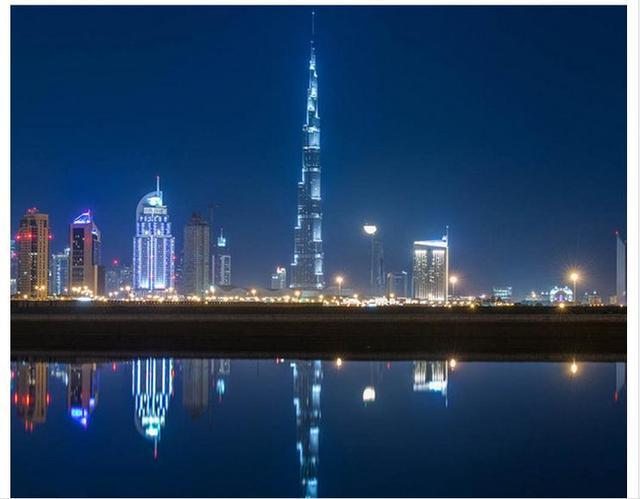Su Misura 3d Carta Da Parati 3d Della Parete Murales Hd Dubai Notte