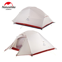 NatureHike Upgrade Cloud Up 20D Silicone Tent Double Layers 3 Person Tent Ultralight Outdoor Tents Camping barraca de praia