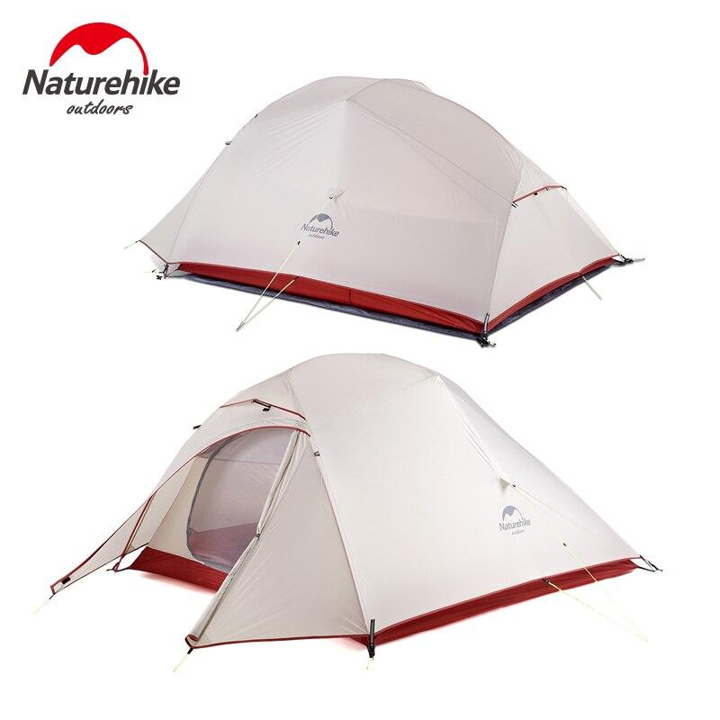 Naturel randonnée mise à niveau nuage Up 20D Silicone tente Double couches 3 personnes tente ultra-légère tentes d'extérieur Camping barraca de praia