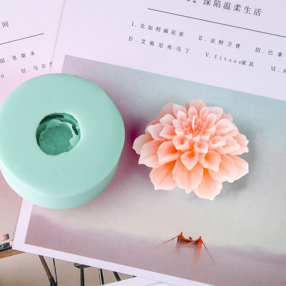PRZY HC0032 silicone moule bougie moules fleurs bougies résine argile silicone moule fleur mariage bougie bricolage arôme pierre moules