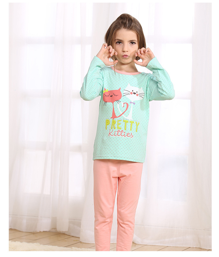 Aliexpress.com : Buy fly cat girls pajamas Children Clothing Sets ...